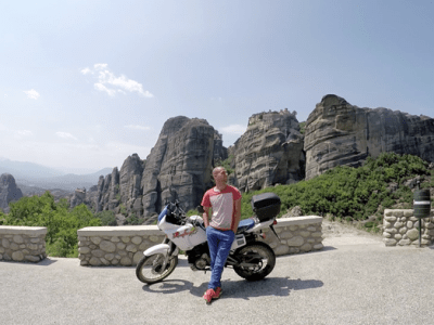 Motorbike journey in the Balkans