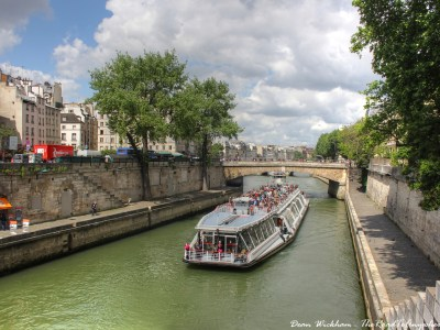 Cruise boat on the Seine in Paris, France
