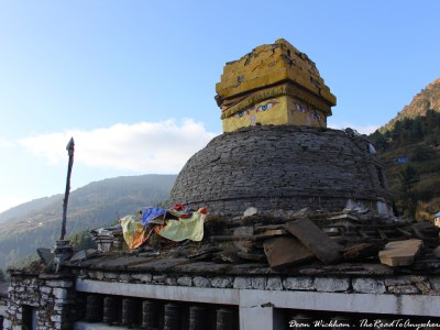 Damaged stupa in Junbesi, Nepal