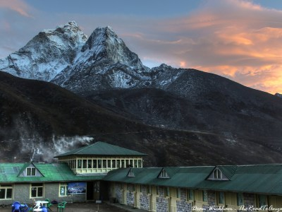 Sunset over Ama Dablam in Dingboche, Nepal