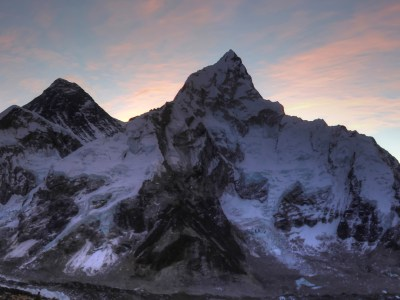 Mount Everest at sunrise from Kala Pattar in Nepal