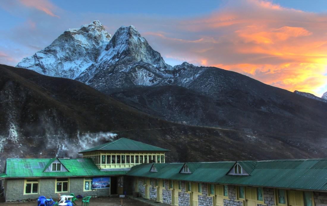Ama Dablan sunset in Dingboche, Nepal