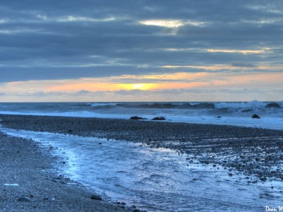Sunset in Hokitika, New Zealand