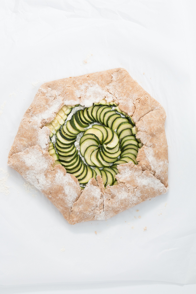 Folding the Zucchini and Ricotta Galette Recipe