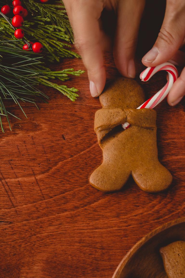 Honey Gingerbread Cookies with Lemon Icing