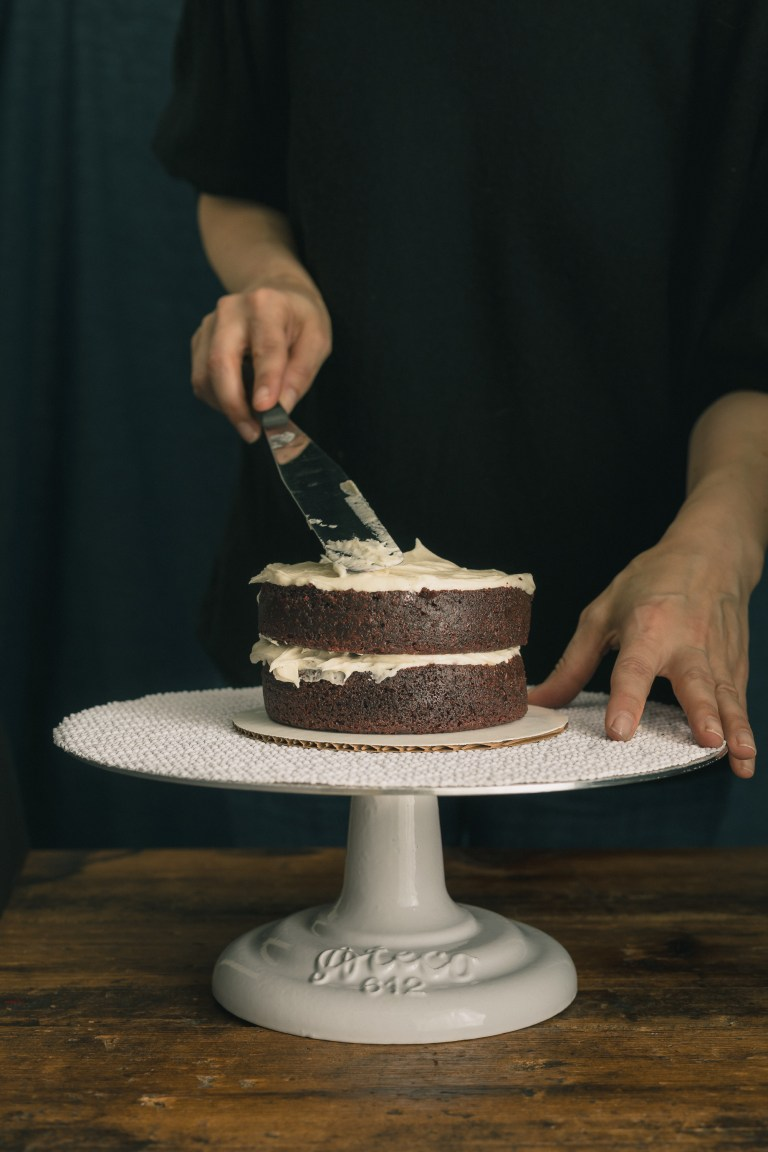 Red Wine Chocolate Cake with Cream Cheese Frosting - An irresistibly moist chocolate cake is spiced with the dark fruit notes of Malbec wine & coated with a lightly sweetened cream cheese frosting, then covered with a sprinkle embellished white chocolate bark for a fun, yet regal appearance. CLICK for recipe.