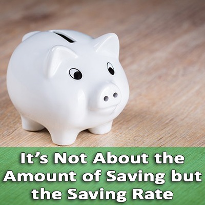 importance of saving rate
