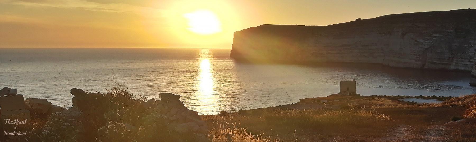 Sunset at Xlendi Cliffs