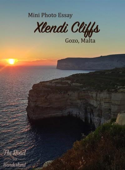 Xlendi Cliffs Pinterest Image