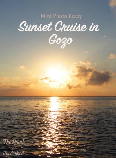 Sunset Cruise in Gozo Pinterest image