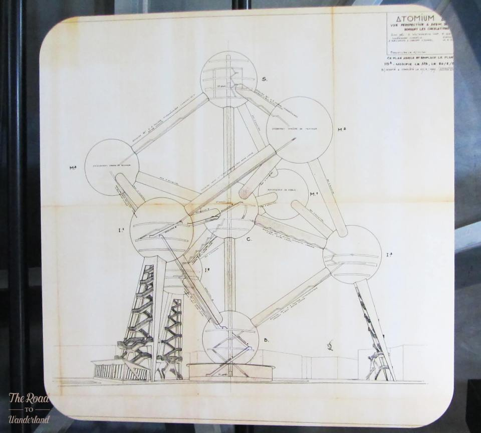 Original plan for the Atomium