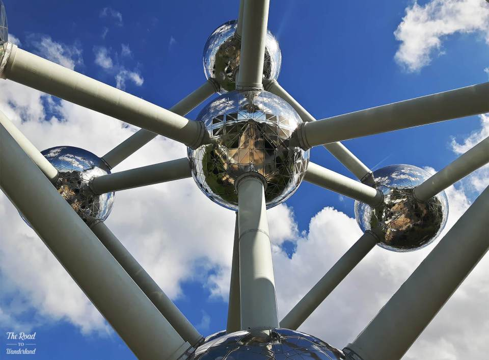 The Atomium from beneath