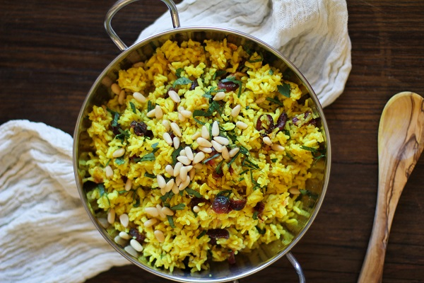 Ginger and Turmeric Aromatic Rice