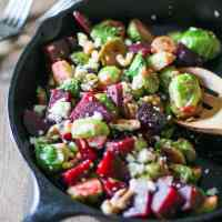 Honey Glazed Brussels Sprouts and Beets