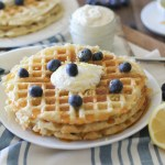 Yeasted Buttermilk Waffles with Honey-Lemon Ricotta   theroastedroot.net #glutenfree #brunch #recipe @redstaryeast