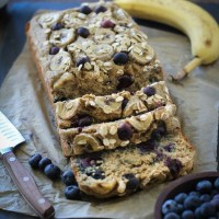 Blender Oat Blueberry Banana Bread
