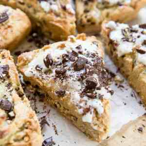 Paleo Pecan Chocolate Chip Scones with a vegan and keto option - an easy scone recipe that is grain-free, refined sugar-free, and dairy-free   TheRoastedRoot.net #glutenfree