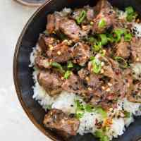 Pressure Cooker Korean Beef Bulgogi