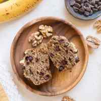 Flourless Oatmeal Banana Nut Muffins