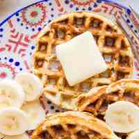 4-Ingredient Banana Waffles
