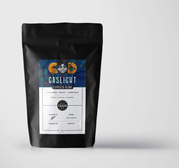 Gaslight Espresso Blend Organic Arabica Medium Light Roast Coffee
