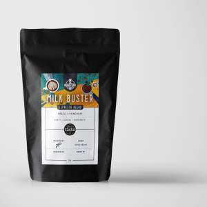 The Roastery Milk Buster Espresso Blend Organic Single Origin Medium Dark Roast Coffee