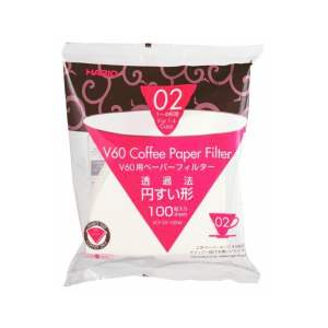 HARIO V60 PAPER FILTER 02 DRIPPER 100 SHEETS - WHITE