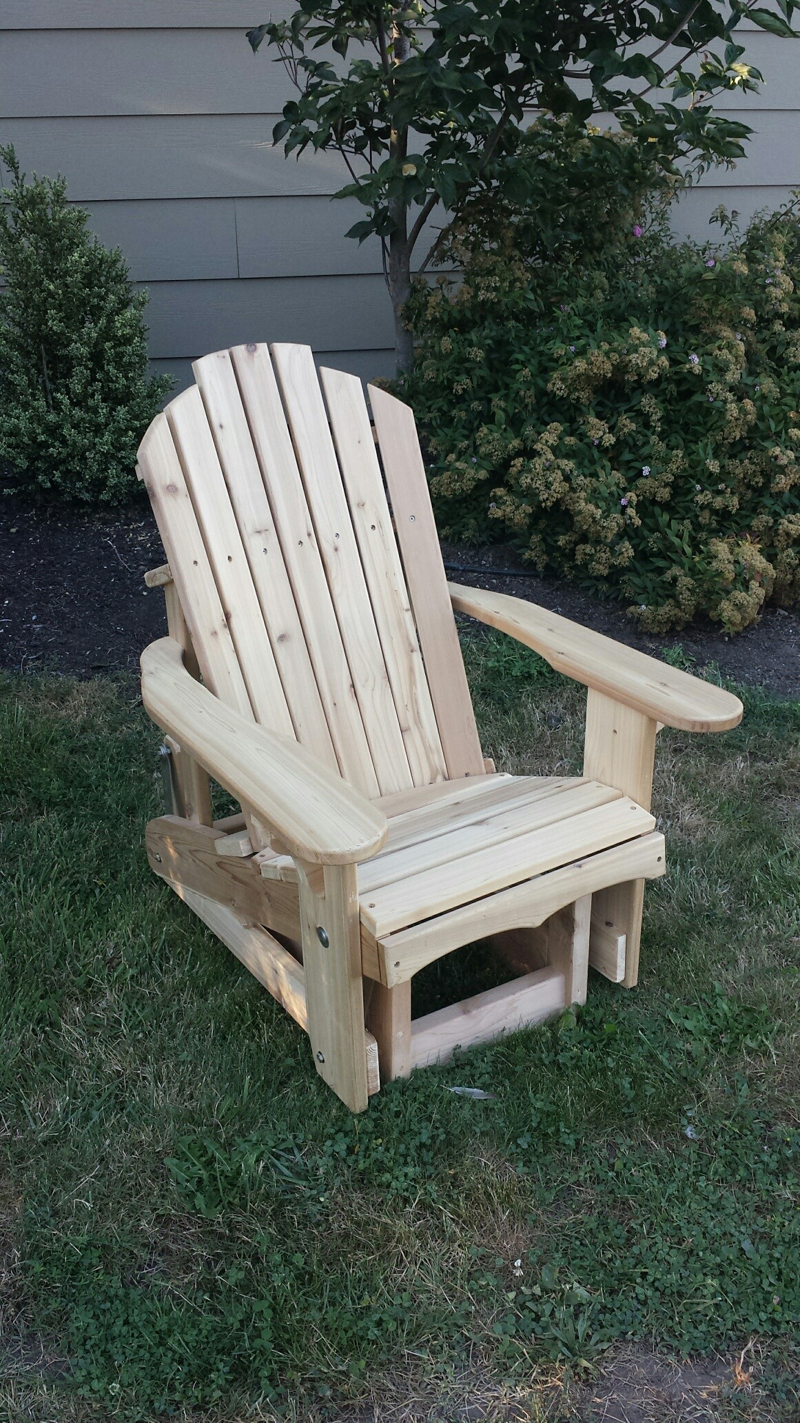 Classic Adirondack Glider Rocker The Rocking Chair Company