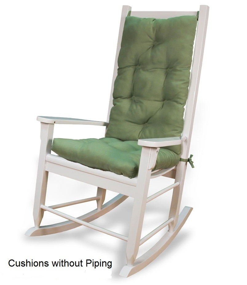 Solid Color Rocking Chair Cushion Set The Rocking Chair