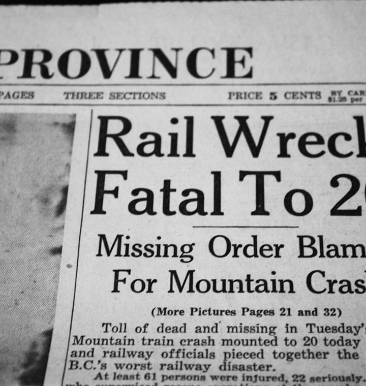 Canoe River train crash memorial