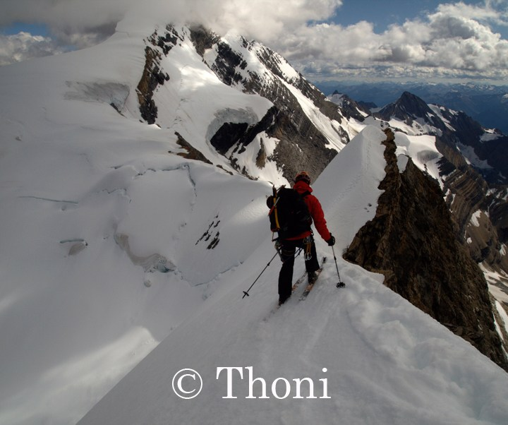 First Mt Robson Ski Descent of its kind!