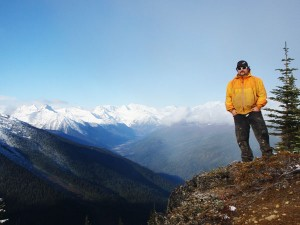 Curtis Pawliuk, VARDA GM, on Mt. Diefenbaker near Valemount