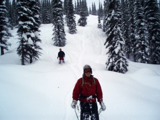 crystal ridge ski board sled valemount bc