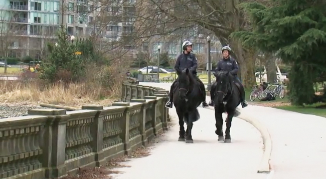 Dunster Horses patrol Vancouver streets