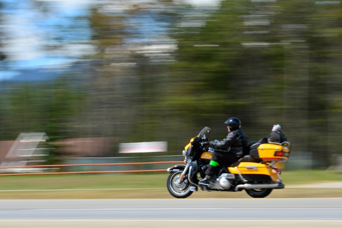 Bikers' touring for children with cancer stop in Valemount