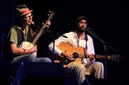 Robson Valley Music Festival 2014 (Corwin and Raghu, chimney swallows)