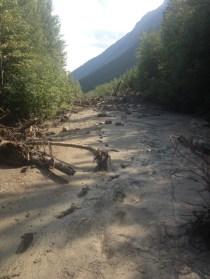 West canoe kinbasket mudslide (1)