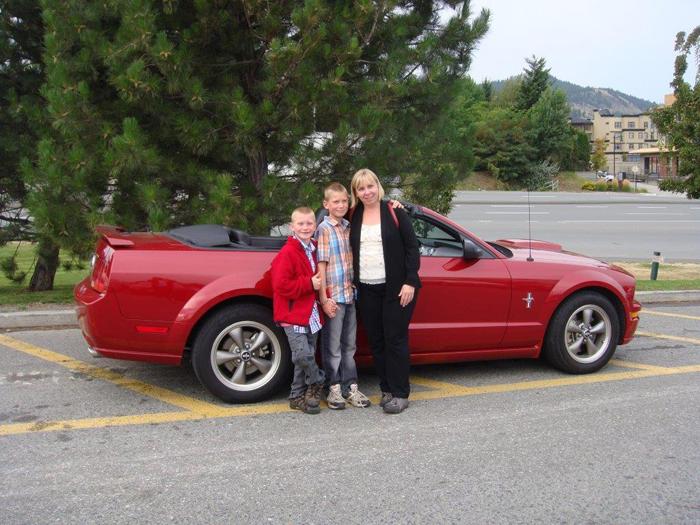 Local woman wins Mustang convertible