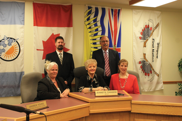 From L to R: Counc. Hollie Blanchette, Counc. Owen Torgerson, Mayor Jeannette Townsend, Counc. Peter Reimer and Counc. Sandy Salt.