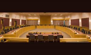 Regional District board room.