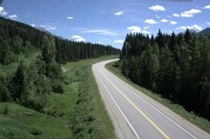 A screenshot of the Red Pass Webcam close to where the accident occurred, some 40 km from the Alta border.