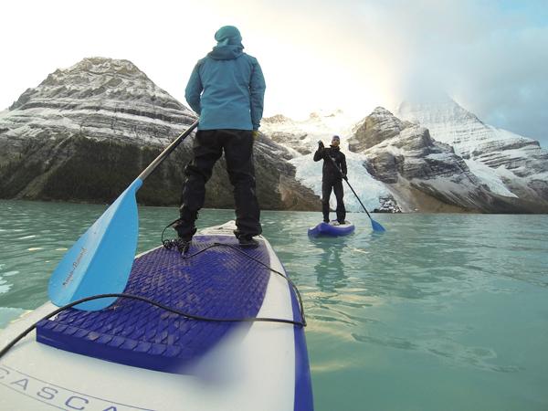 A frigid berg adventure – paddle boarding in Mount Robson Park