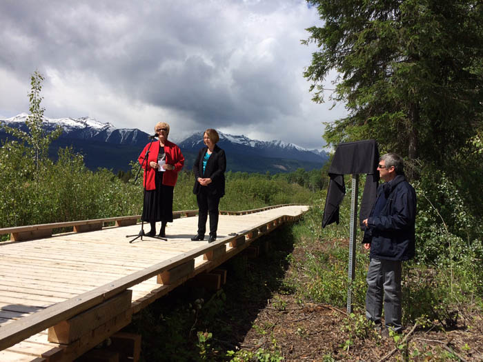 Photos: Korie Marshall and Laura Keil - MLA Shirley Bond says she is pleased the boardwalk makes the Cranberry Marsh Trail more accessible to seniors and those with mobility challenges, and offers quintessential BC views to visitors.