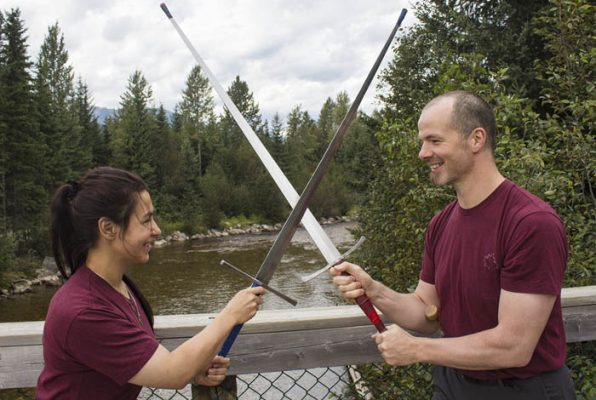 Set up a workshop or a class by contacting Greg Reimer, or visiting his website at www.swordfight.ca.