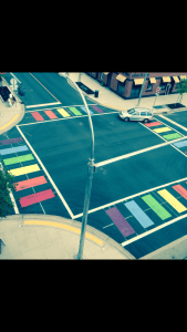 Photo: Supplied This is the rainbow crosswalk seen in Kelowna.