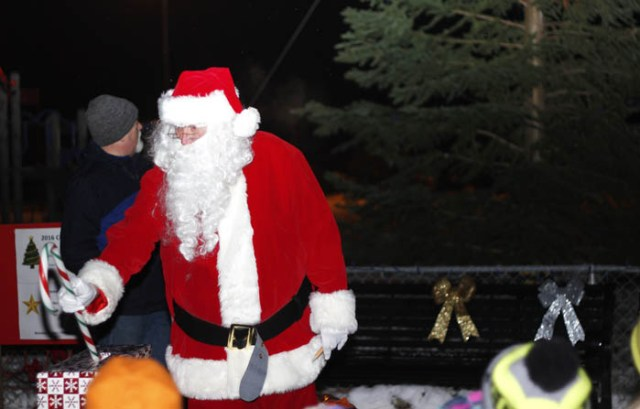 Santa was chosen to officially light the tree by pulling a specially designed lever, though it took him two tries!