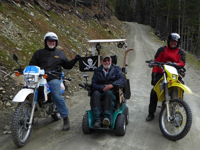 John Wheeler – Gary Klohn, Robert Frear, Tracy Klohn out for a ride up the Rosin Creek road_web