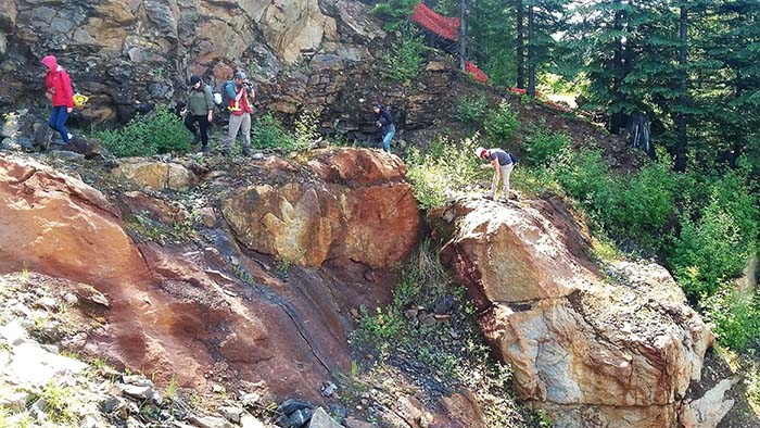 Mining enthusiasts check out Blue River deposit