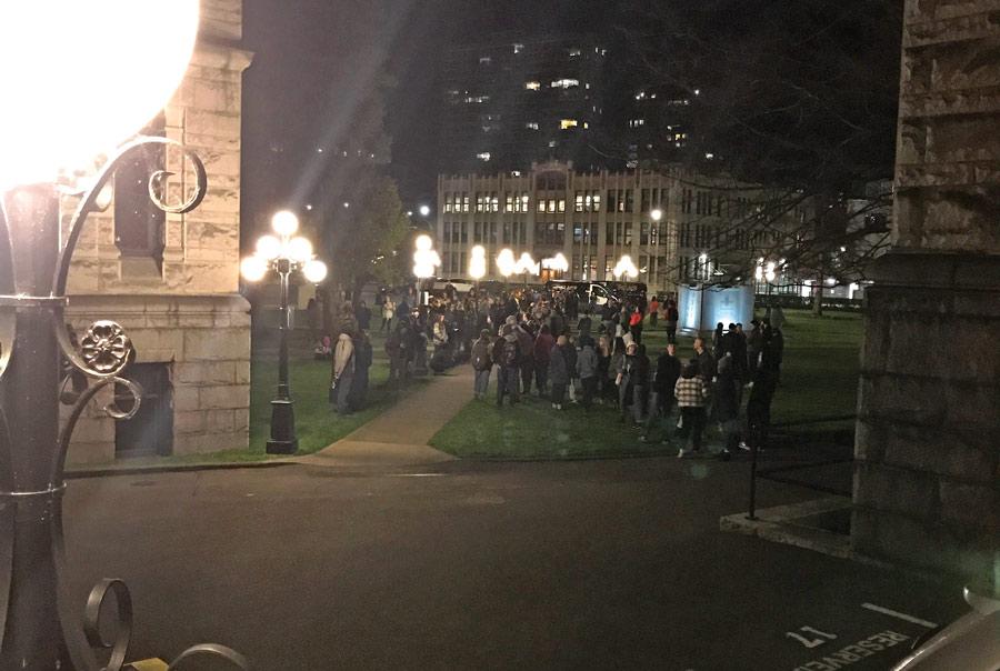 A-crowd-gathers-outside-the-Leg