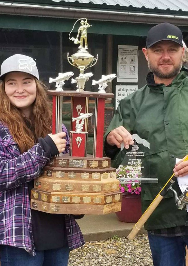 Maddisyn Smith wins big  at  Valemount  Fishing Derby